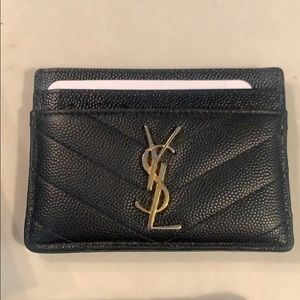 YSL Card Case in Black